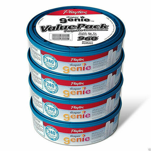 240x4 NEW Playtex Diaper Genie Value Pack