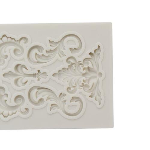 Flower Lace Silicone Mold Mould Sugar Craft Fondant Mat Cake Baking Tools SL