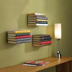 2 X Floating Invisible Book Wall Shelf Home Decor Bookshelf Metal
