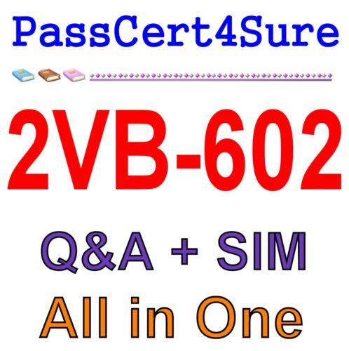 VMware Specialist: vRealize Operations 2VB-602 Exam Q&A PDF+SIM