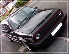 VW GOLF MK2 GTI 16V BLACK BONNET BRA