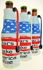 3 Foldable Beer Koozie Insulated Wine Tote Cooler Water Bottle Coozie Bag