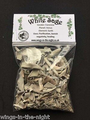 WHITE SAGE Dried Magical Herb(Crushed) ~ Healing/Purification ~ Pagan/Witchcraft