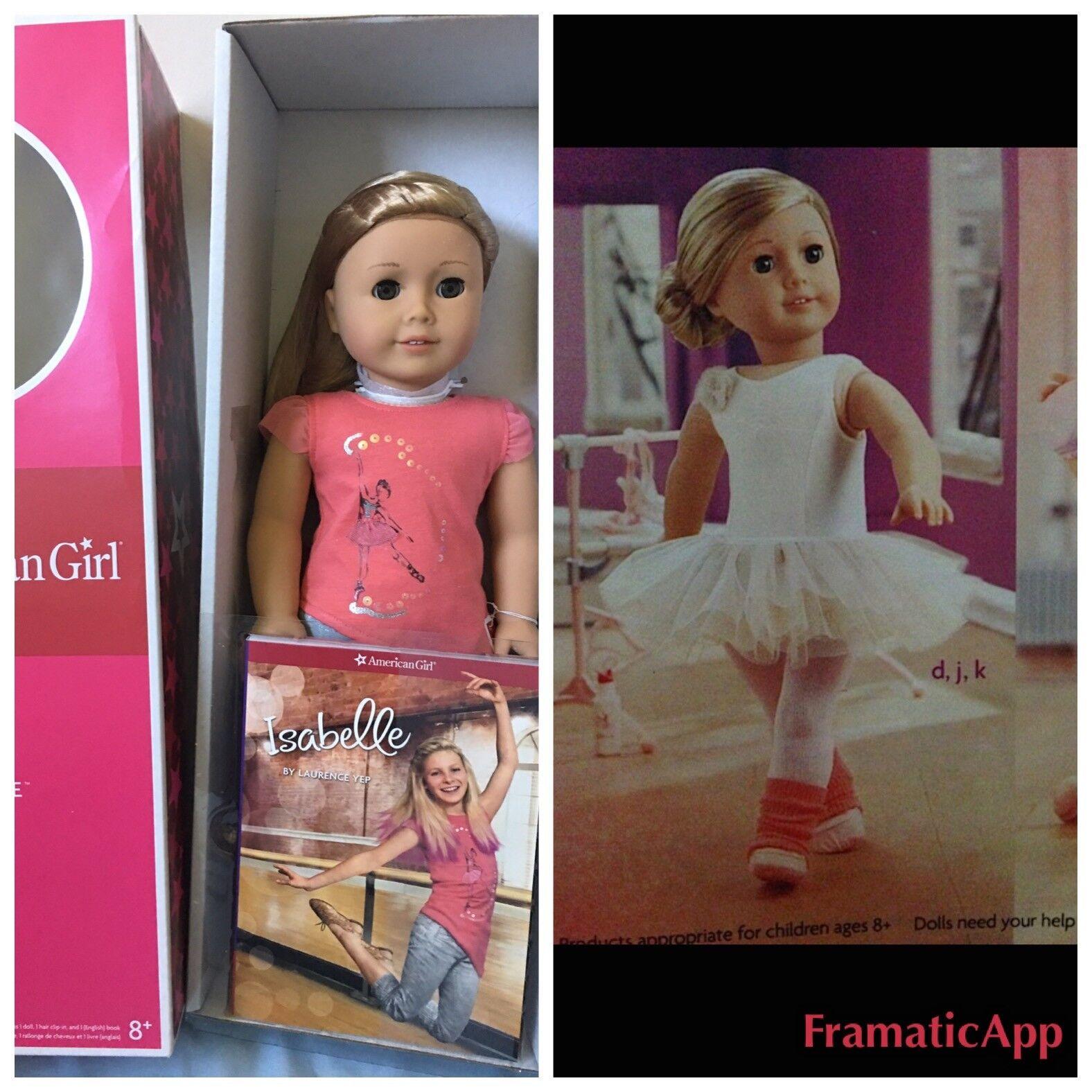 American Girl Isabelle Doll & Book set w  ballerina separates  leotard, slippers