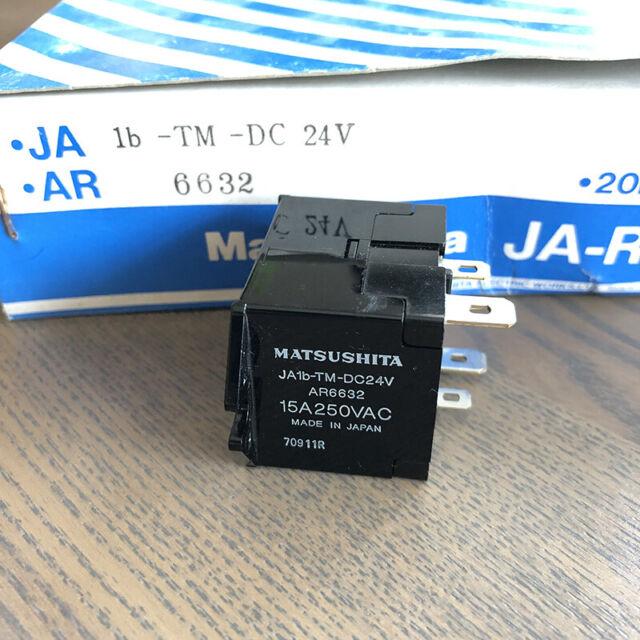 Matsushita JA1b-TM-DC24V General Purpose Relay 24VDC 15A x 2pcs