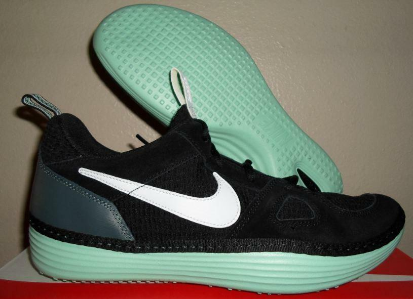 NEW NIKE SOLARSOFT RUN RUNNING MOCCASIN BLACK WHITE MINT GREEN SHOES SIZE 11 U.S Cheap and beautiful fashion