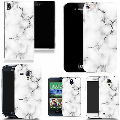 Clip on hard case cover for majority Popular Mobile phones - marble effect