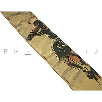 NEW Levy's MN26PNH Christian Design Leather Guitar Strap - Nailhead PATTERN 004