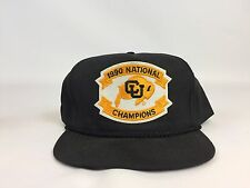 1990 Original Vintage Colorado Buffaloes National Champions Orange Bowl Hat CU