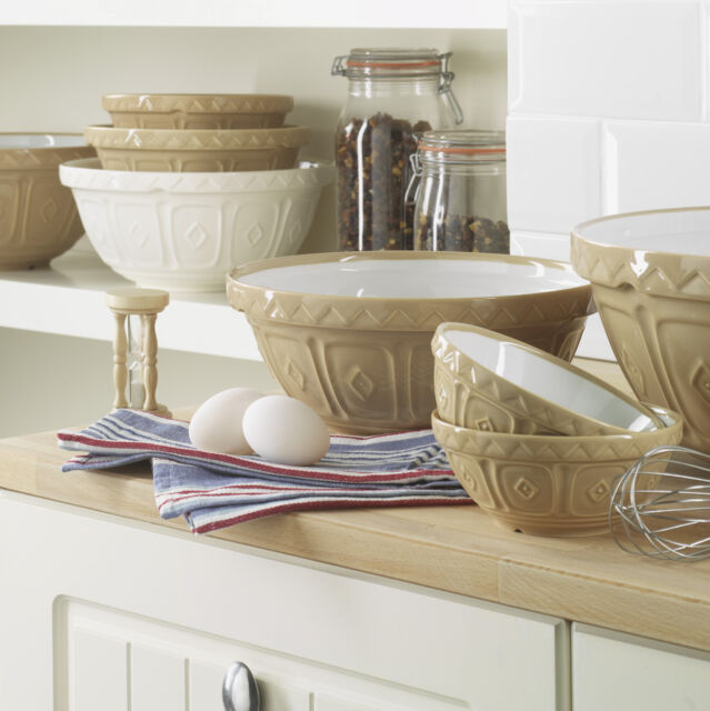Mason Cash Cane Mixing Bowl - Fine Stoneware in 5 Sizes - Seen on Bake Off