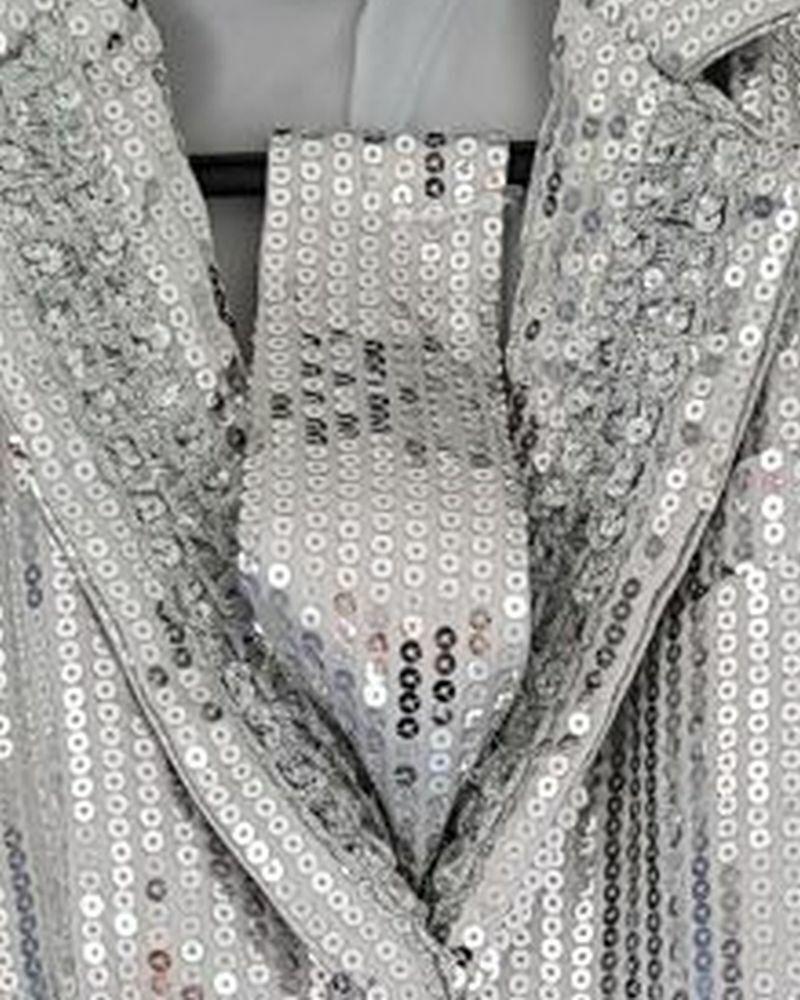 Lentejuelas Corbata Plata Al Lazo de La ,Mujer,Hombre,Año Nuevo,Show Carnaval