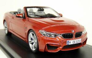 Échelle de Paragon au 1/18 - Bmw M4 Décapotable (f83) Sakhir Orange Miniature Car 929990971117