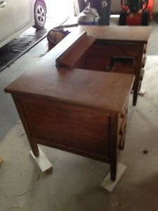 OLD FASHIONED SEWING MACHINE DESK