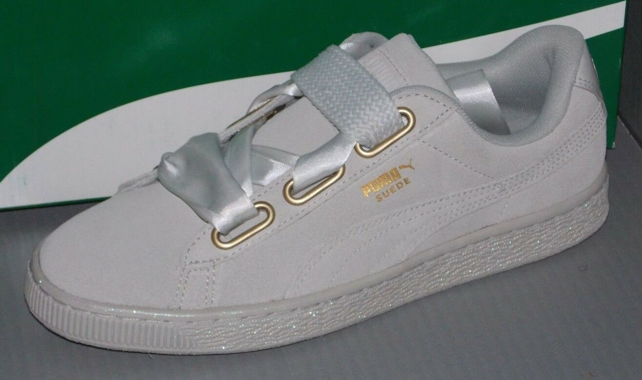 WOMENS PUMA SUEDE HEART SATIN in colors GRAY VIOLET / GRAY VIOLET SIZE 8.5