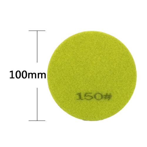 "4/"" Diamond Polishing Pad Wet Grinding Disc for Buffing Stone Tile 50~3000 Grit"