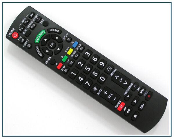 GéNéReuse Télécommande De Remplacement Pour Panasonic Tv Tx-l32x15 Tx-l37gw10 Tx-l42etw5