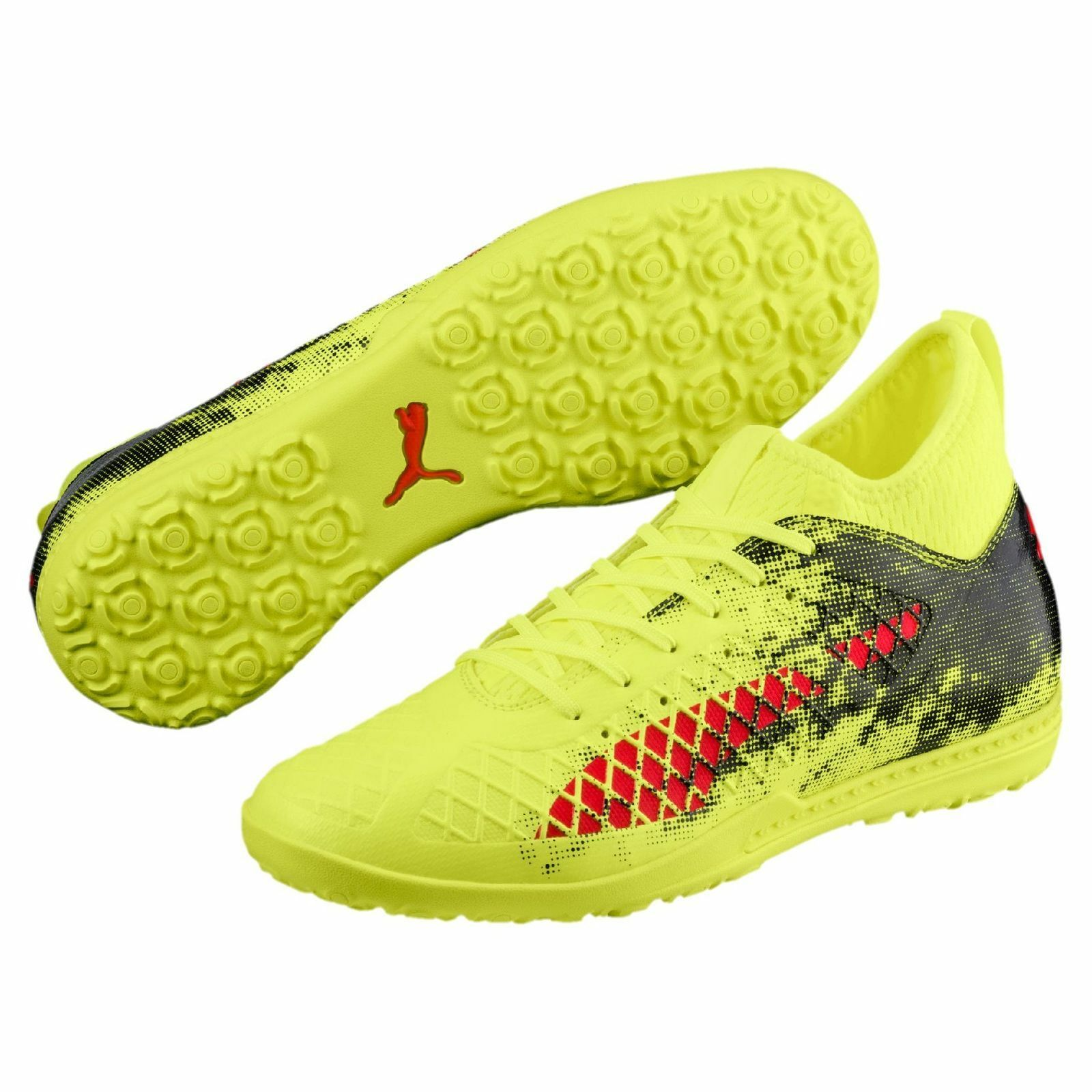 Puma Future 18.3 TT Turf 2018 Soccer Shoes Brand New Yellow / Red / Black