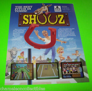 SHUUZ-By-ATARI-1990-ORIGINAL-NOS-VIDEO-ARCADE-GAME-PROMO-SALES-FLYER