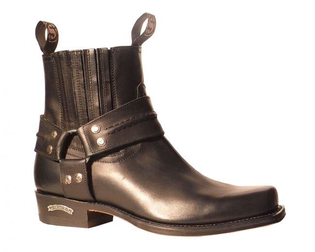 SENDRA BIKER BOOTS 2746 SCHWARZ  incl. original MOSQUITO ® Stiefelknecht