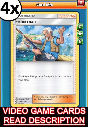 Pokemon TCG Online 4x Fisherman Trainer Celestial Storm PTCGO