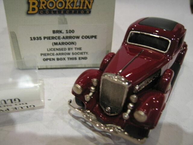 1/43 BROOKLIN 100 PIERCE ARROW COUPE 1935 MAROON