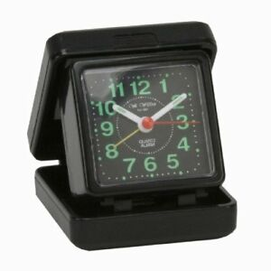 small portable folding quartz travel alarm clock desk top. Black Bedroom Furniture Sets. Home Design Ideas