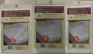 FITTED MATTRESS COVER PROTECTOR LIGHTWEIGHT PLASTIC SPILL PROTECTION MATTRESS
