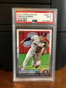 2015-Topps-Update-Carlos-Correa-Astros-Rookie-Card-US174-PSA-9-Mint