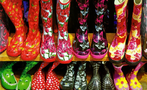 500 pieces pcs Puzzle Colorful Childrens Boots at Market Photography Jigsaw