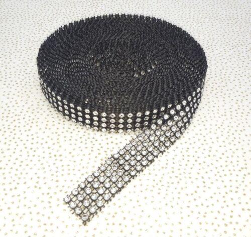9 METRI effetto diamante nastro di rete di strass taglio Nuziale Craft