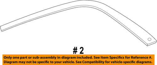 CHRYSLER OEM 11-18 300 Exterior-Rear-Frame Molding Left 57010409AL