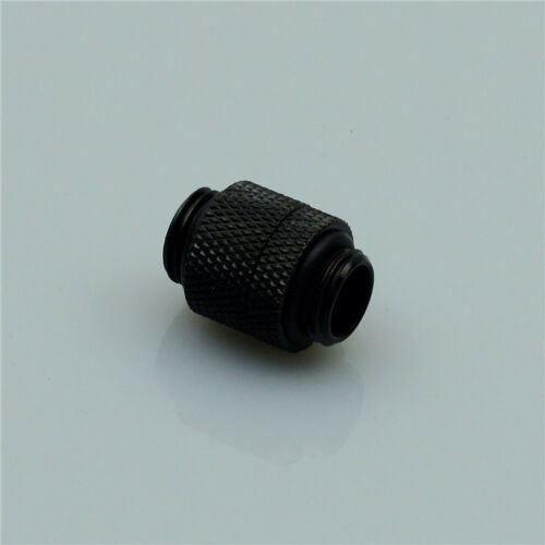Silver Rotary Male to Male Fitting Adapter G1//4 Thread For Water Cooling