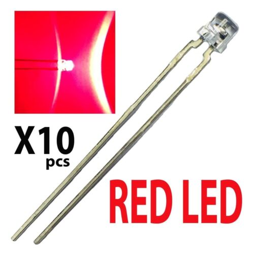 10 Pack of LHK376-S OSRAM LED Uni-Color Red 660nm 2-Pin T-1
