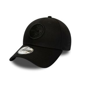 lowest price stable quality sale New Era 39THIRTY NFL Pittsburgh Steelers Team Black on Black ...