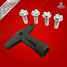 Alloy Wheel Centre Cap Screws Bolts with Key OE: 7700422600 for RENAULT MEGANE 2