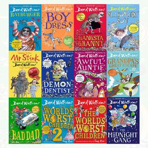 David-Walliams-Collection-12-Books-Set-Pack-Bad-Dad-World-s-Worst-Children-New