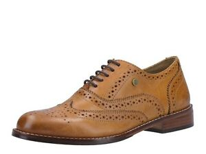 Hush-Puppies-NEW-Natalie-tan-genuine-leather-women-039-s-lace-up-brogue-shoes-sz-3-8