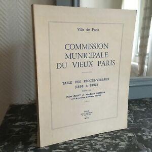 TABLE-des-Proces-Verbaux-1898-1932-Commission-Municipale-Du-Vieux-Paris-Illustre