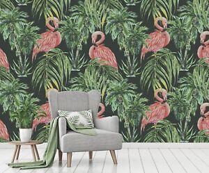 3d Flamingo Pattern 76 Wallpaper Mural Paper Wall Print Murals Uk