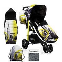 Koochi Brooklyn Am Pushmatic 3 Wheeler Pushchair Baby Stroller & Accessories