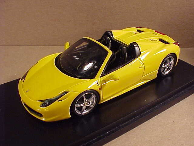 Fujimi 1 43 Ferrari 458 Open Top Spider, Yellow  FJM124321