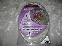 Rca Digital Audio Video Cable 24k Hdtv Dvd 3 Ft.