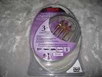 Rca Digital Audio Video Cable 24k Hdtv Dvd 3 Ft.