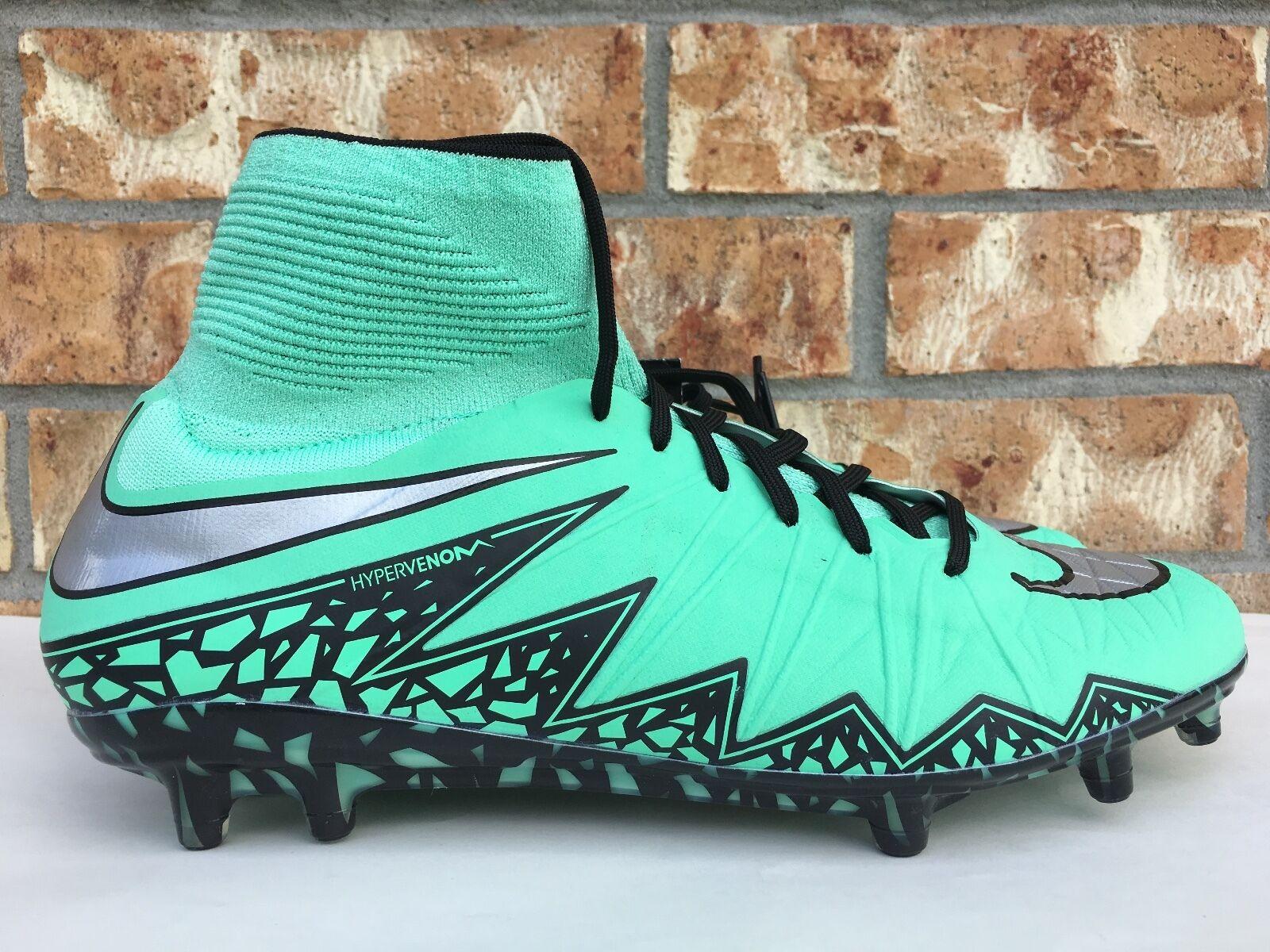 Los hombres de Nike hypervenom Phantom II FG metal soccer cleats Verde Glow metal FG 747213-309 14ecb2