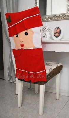 Coprisedia Natalizio Decorazioni Copri Sedie Mamma Natale Idea Regalo Casa Festa | eBay