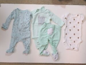 Carter S Baby Boy Clothes Lot 24 Pieces Sizes Newborn And 3 Months Ebay