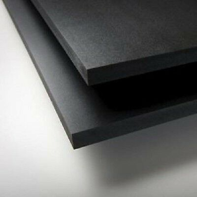"BLACK SINTRA PVC FOAM BOARD PLASTIC SHEETS 2mm .079"" X 24"" X 48"""