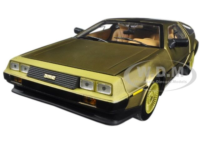 1981 DE LOREAN DMC 12 COUPE oro EDITION 1 18 DIECAST MODEL CAR BY SUNSTAR 2702