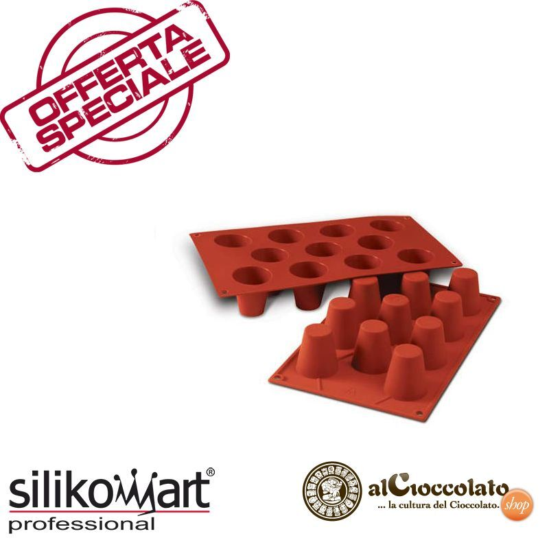 10 STAMPI SILIKOMART 11 BABA' 45 MM SF020 DOLCI TORTA SILICONE STAMPO BABà OFFER