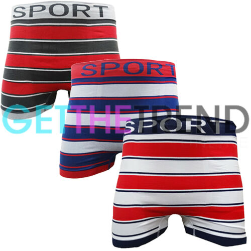 3 Pack Mens Boxers Seamless Boxer Shorts Trunks Underpant Briefs Underwear New